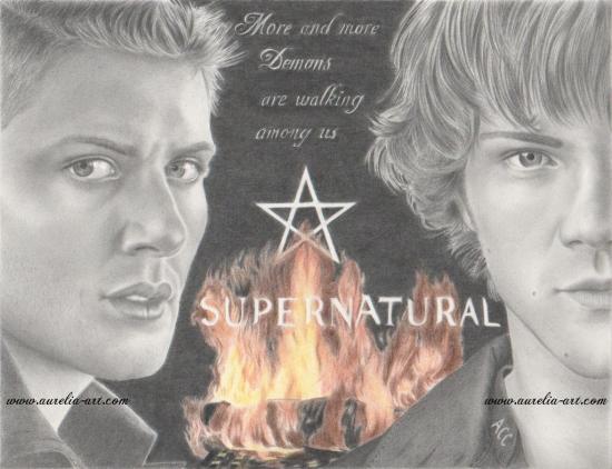 Jensen Ackles, Jared Padalecki by Aurelia-ACC